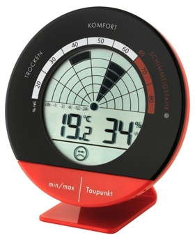 tfa thermo hygrometer 305032 in rot